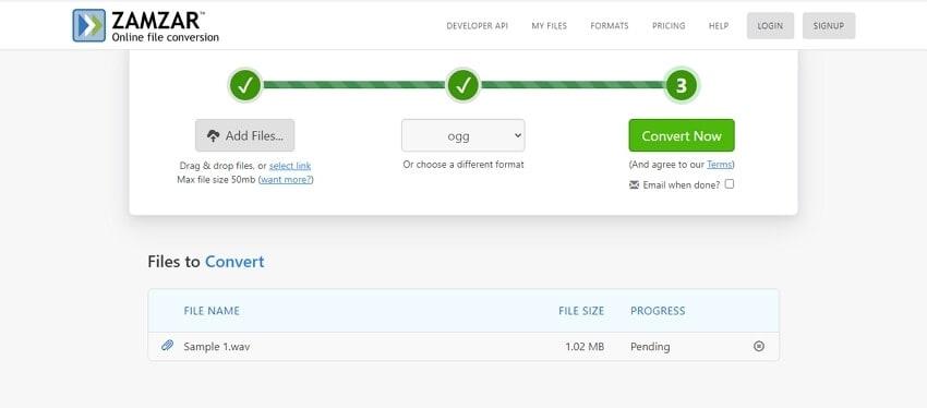 WAV to OGG online converter - Zamzar