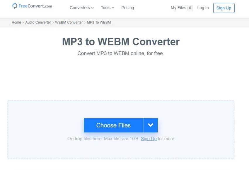 convert MP3 to WebM online
