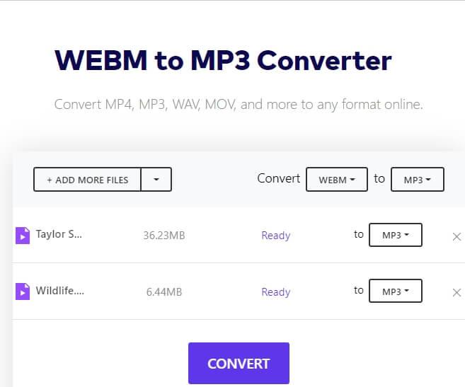 convert webm to mp3 online