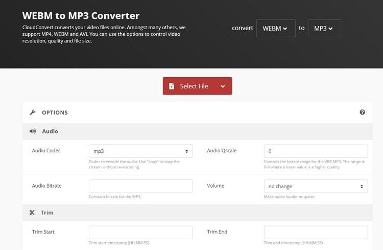 online webm to mp3 converter