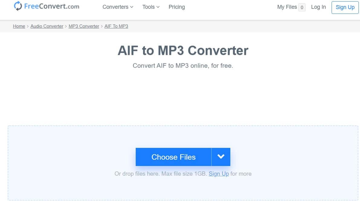AIF to MP3 online converter - FreeConvert