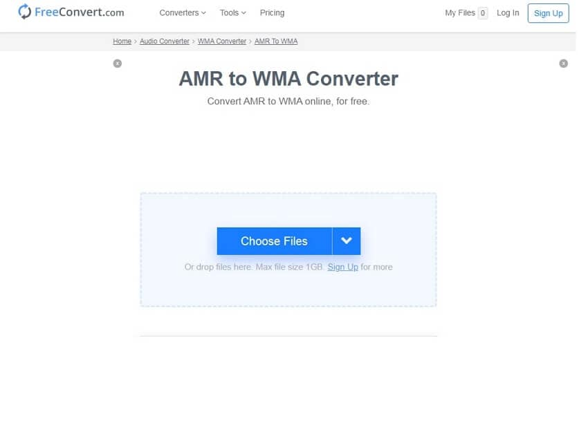 Convert AMR to WMA online with FreeConvert