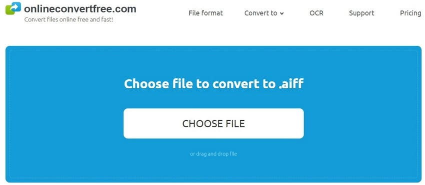 Convert WMA to AIFF with Onlineconvertfree