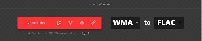Convert WMA to FLAC with Convertio