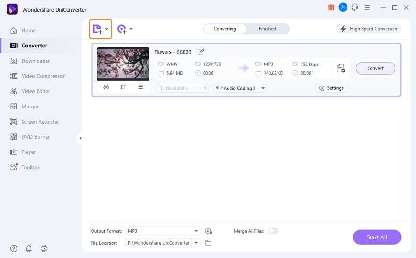 Import the WMV files into this WMV to AVI converter