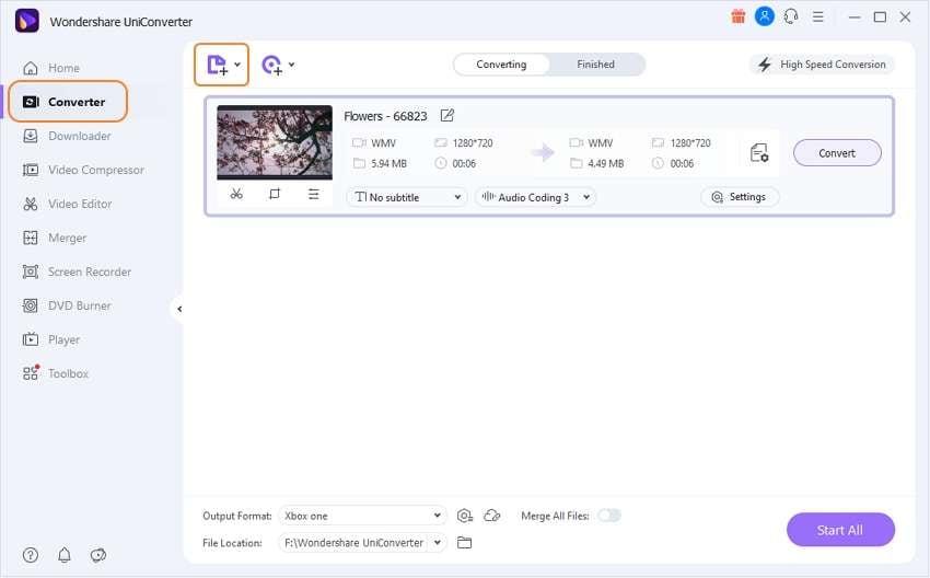 add files to UniConverter
