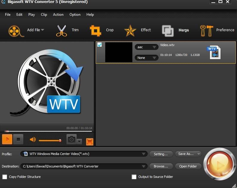 Bigasoft WTV Converter