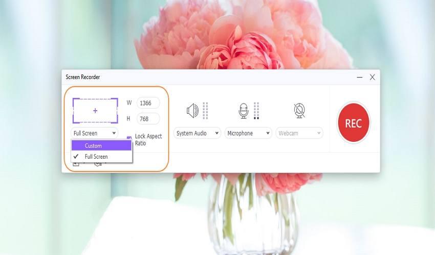 best youtube recording software uniconverter choose a capture area