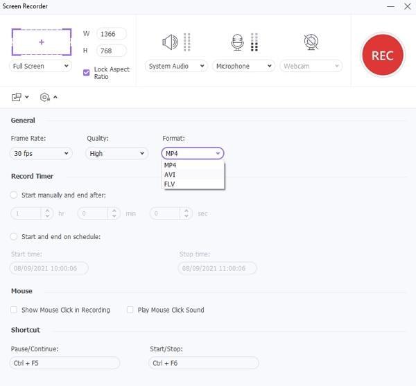 best youtube recording software wondershare configure settings