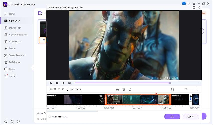 fix youtube video not playing by uniconverter trim the video