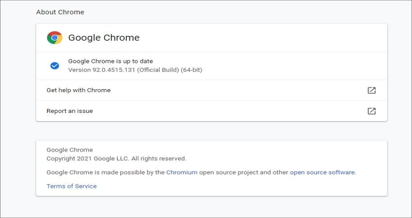 fix youtube video not playing by updating chrome browser