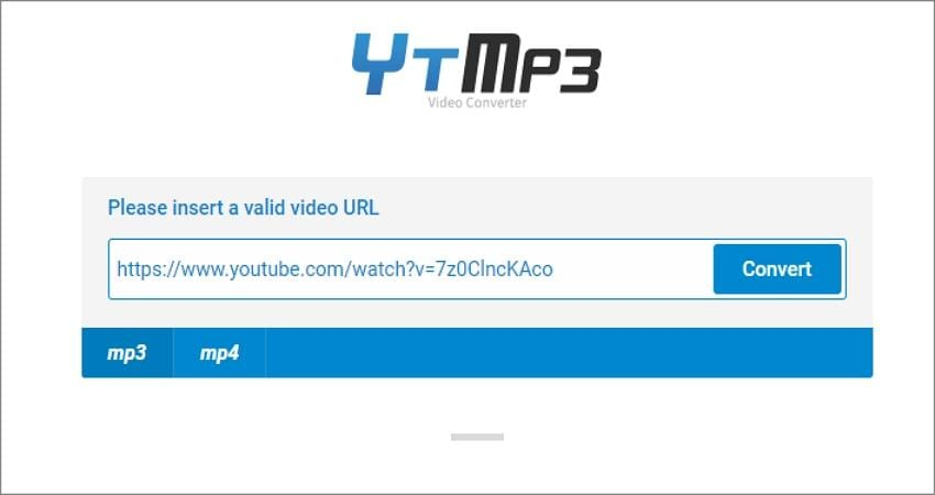 how to convert a youtube video to audio using ytmp3 paste the video link