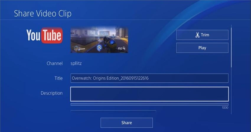 how to record ps4 gameplay for youtube export to youtube