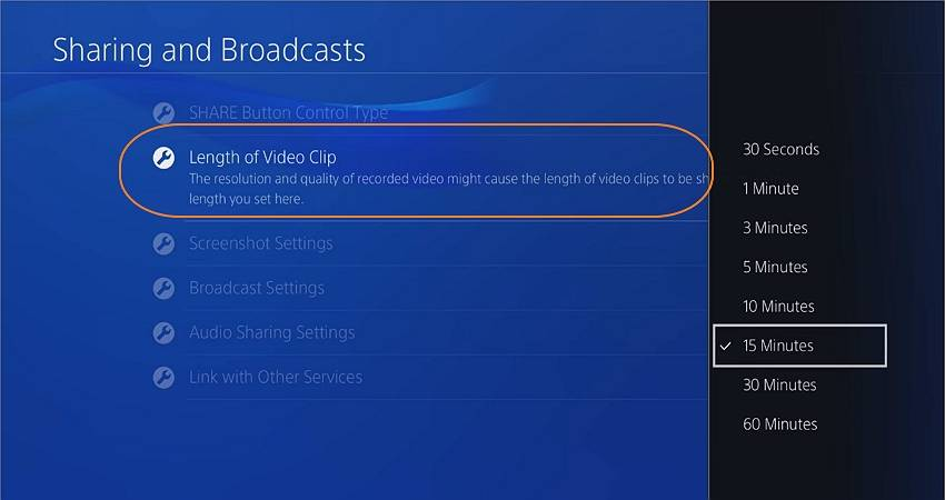 how to record ps4 gameplay for youtube set the recording timer