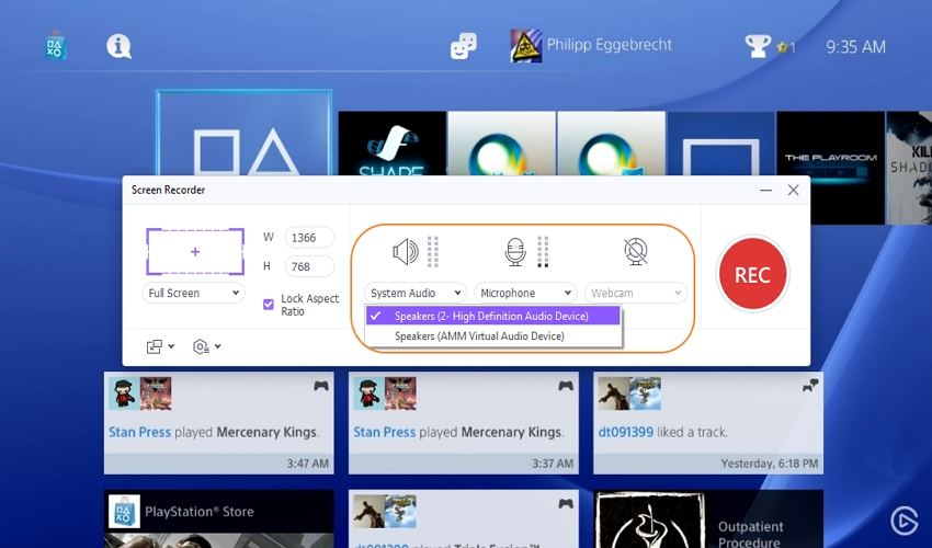 record ps4 gameplay for youtube with uniconverter configure recording devices