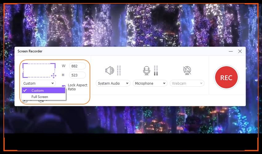 record youtube videos on mac with uniconverter crop capture area