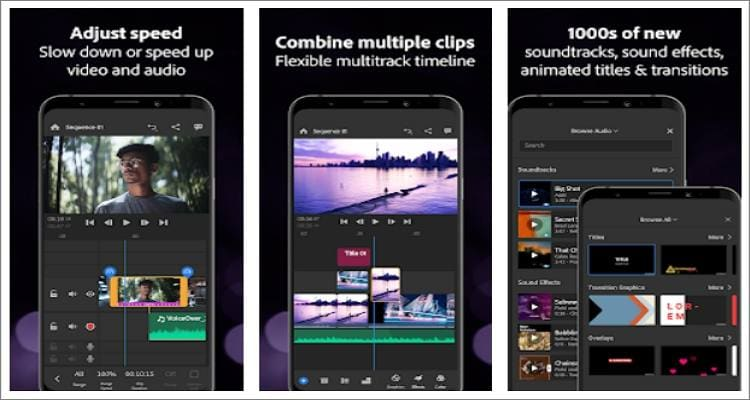 youtube recording app adobe premiere rush