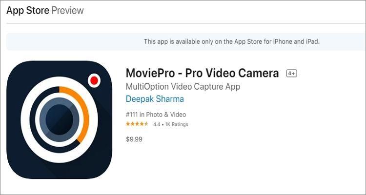 youtube recording app movie pro